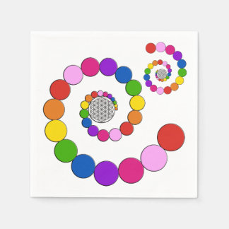 Flower of Life / Blume des Lebens - spiral dots Standard Cocktail Napkin