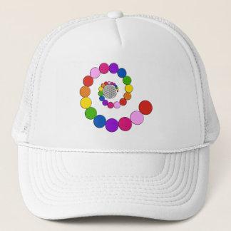 Flower of Life / Blume des Lebens - spiral dots Trucker Hat