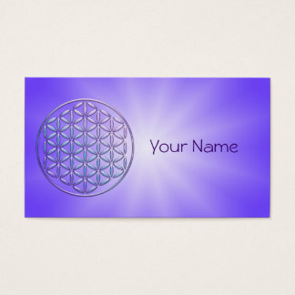 Flower of Life / Blume des Lebens - stamp violet Business Card
