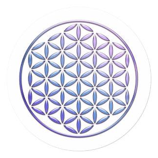 Flower Of Life / Blume des Lebens - stamp violet Card