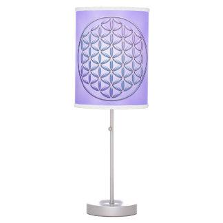 Flower of Life / Blume des Lebens - stamp violet Desk Lamps