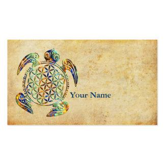 Flower of Life / Blume des Lebens - turtle colored Business Card
