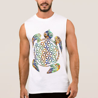Flower of Life / Blume des Lebens - turtle colored Sleeveless Tees