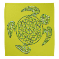 Flower of Life / Blume des Lebens - turtle green Bandana