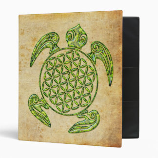 Flower of Life / Blume des Lebens - turtle green Binder