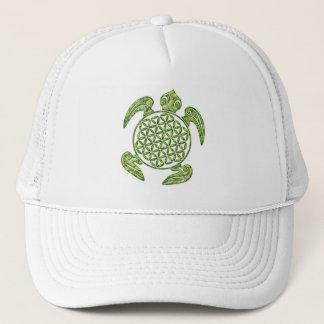 Flower of Life / Blume des Lebens - turtle green Trucker Hat