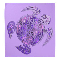 Flower of Life / Blume des Lebens - turtle purple Bandana
