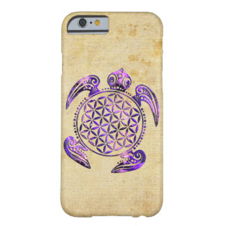 Flower of Life / Blume des Lebens - turtle purple Barely There iPhone 6 Case