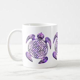 Flower of Life / Blume des Lebens - turtle purple Coffee Mug