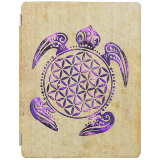 Flower of Life / Blume des Lebens - turtle purple iPad Smart Cover