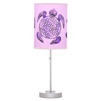 Flower of Life / Blume des Lebens - turtle purple Table Lamp