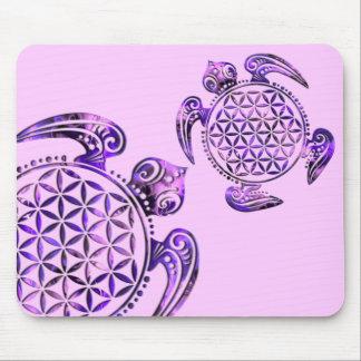 Flower of Life / Blume des Lebens - turtle purple Mouse Pad