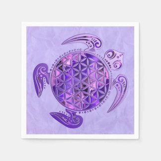 Flower Of Life / Blume des Lebens - turtle purple Standard Cocktail Napkin