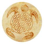 Flower of Life / Blume des Lebens - turtle stone 5.25x5.25 Square Paper Invitation Card