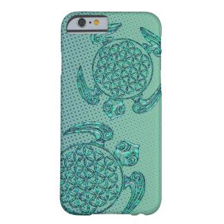 Flower of Life / Blume des Lebens turtle turquoise Barely There iPhone 6 Case