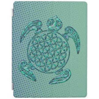 Flower of Life / Blume des Lebens turtle turquoise iPad Smart Cover