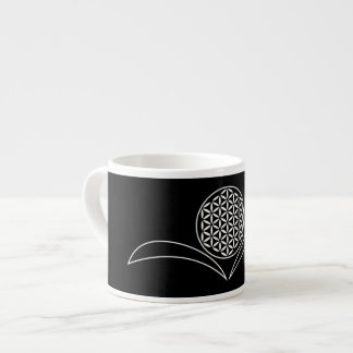 Flower of Life / Blume des Lebens - white leafs Espresso Cup