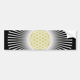 Flower Of Life / Blume des Lebens - white rays Bumper Sticker