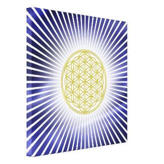 Flower Of Life / Blume des Lebens - white rays Canvas Print