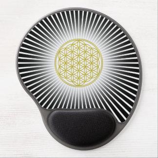 Flower Of Life / Blume des Lebens - white rays Gel Mouse Mat