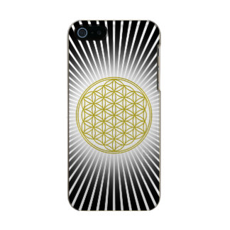 Flower Of Life / Blume des Lebens - white rays Metallic Phone Case For iPhone SE/5/5s