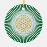 Flower Of Life / Blume des Lebens - white rays Christmas Ornaments