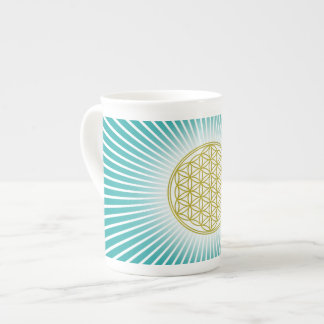 Flower Of Life / Blume des Lebens - white rays Tea Cup