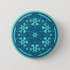 Flower Of Life - Button Style 01