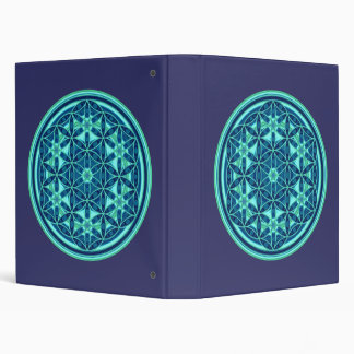 Flower Of Life - Button Style 01 3 Ring Binder