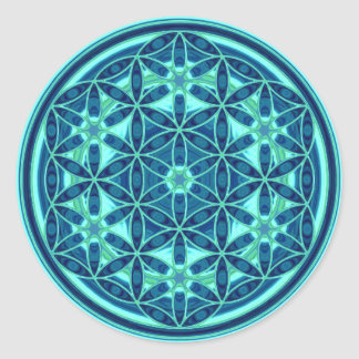 Flower Of Life - Button Style 01 Classic Round Sticker