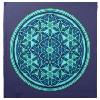Flower Of Life - Button Style 01 Napkins