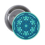 Flower Of Life - Button Style 01 Pinback Button