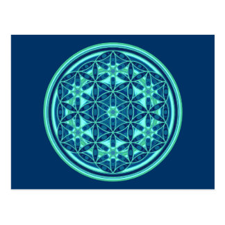 Flower Of Life - Button Style 01 Postcard