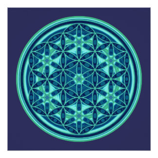 Flower Of Life - Button Style 01 Poster