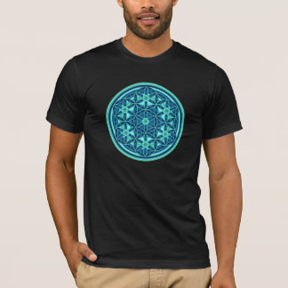 Flower Of Life - Button Style 01 T-Shirt