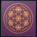 "Flower Of Life - Button Style 02 Cloth Napkin<br><div class=""desc"">Spiritual Yantra &amp; Chakra ART by EDDA Fr&#246;hlich 