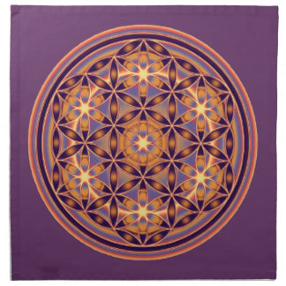 Flower Of Life - Button Style 02 Cloth Napkin
