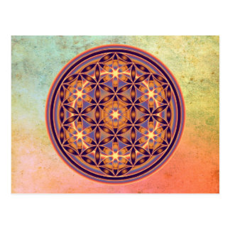 Flower Of Life - Button Style 02 Postcard