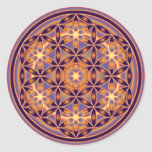 Flower Of Life - Button Style 02 Round Stickers
