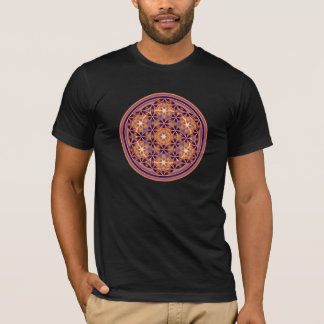 Flower Of Life - Button Style 02 T-Shirt