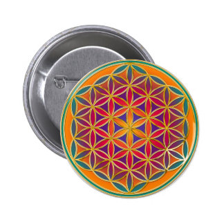 Flower Of Life - Button Style 03