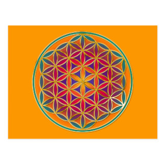 Flower Of Life - Button Style 03 Postcard