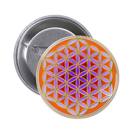 Flower Of Life - Button Style 04