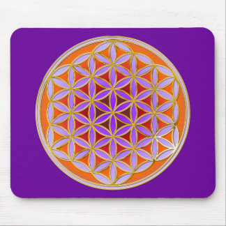 Flower Of Life - Button Style 04 Mouse Pad