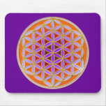 Flower Of Life - Button Style 04 Mouse Pads
