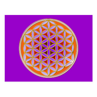 Flower Of Life - Button Style 04 Postcard