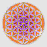 Flower Of Life - Button Style 04 Sticker