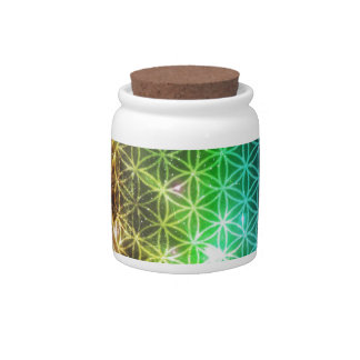 Flower of Life Candy Jar