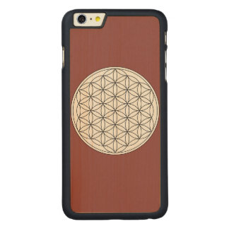 Flower of Life Carved® Maple iPhone 6 Plus Case