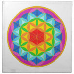 Flower of Life Chakra10 Cloth Napkin<br><div class='desc'>By meditating upon this Flower of Life symbol on the body it has been known to have powerful healing benefits, helps to dissolve fears, assists in connecting to the higher self, stronger self awareness and reveals the innate harmony in the template of all life. There are many spiritual beliefs associated...</div>